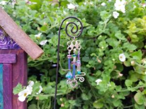 Purple and Teal Garden Fairy Wind Chime - GardenFairies.ca