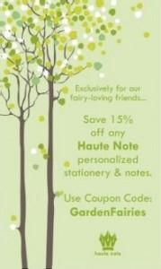 Haute Note - Garden Fairies Coupon Code - GardenFairies.ca