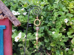 Black Twirl Garden Fairy Wish Catcher - GardenFairies.ca