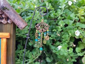 Lime & Turquoise Garden Fairy Wind Chime - GardenFairies.ca