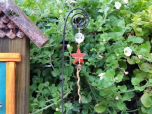 Orange Star Garden Fairy Wish Catcher - GardenFairies.ca