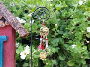 Red Zen Garden Fairy Wind Chime - GardenFairies.ca