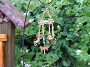 Yellow Garden Fairy Wind Chime - GardenFairies.ca