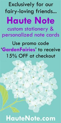 Haute Note - Personalized Note Cards & Custom Stationery - Banner Ad - GardenFairies.ca